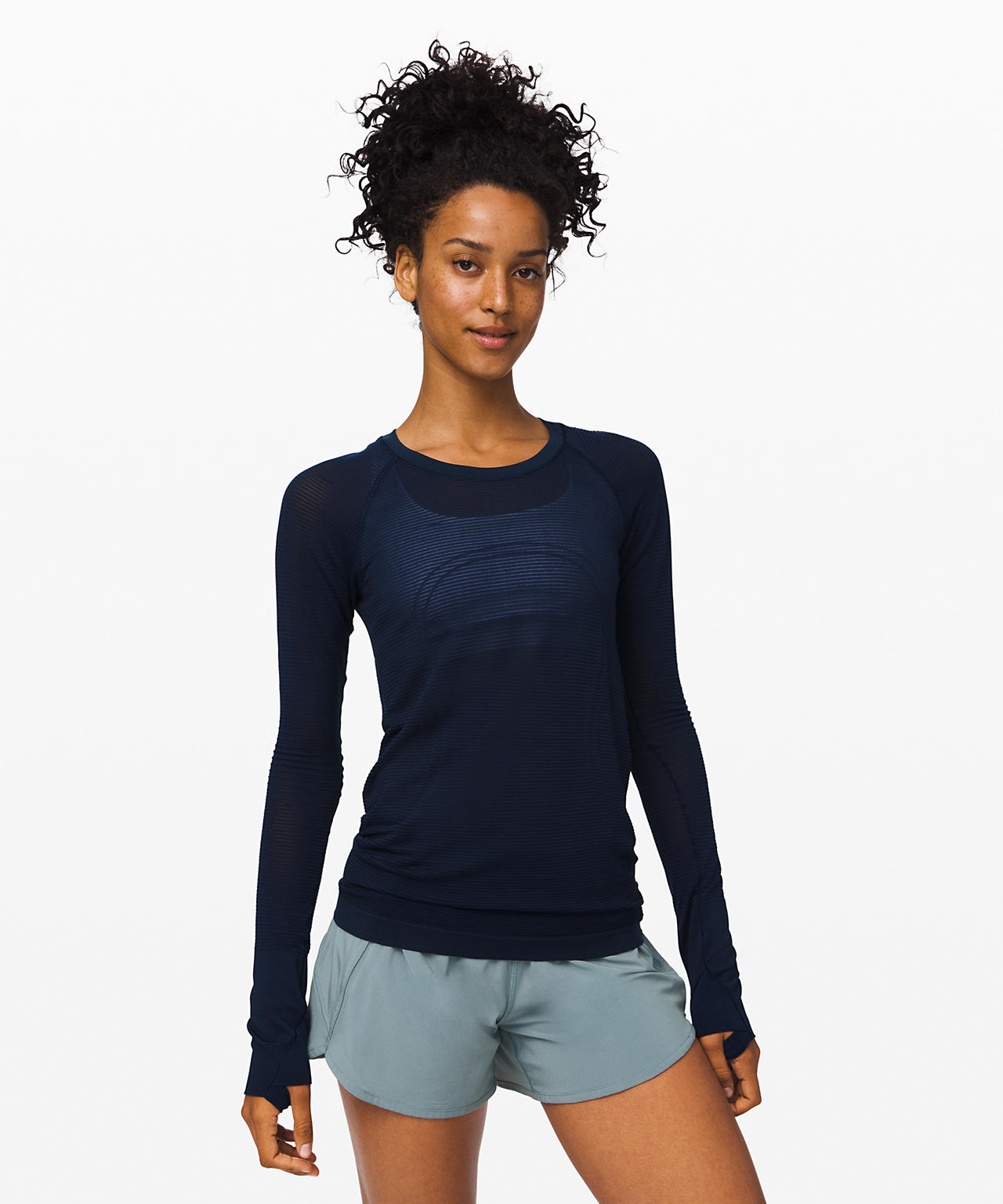Swiftly Speed Long Sleeve  Sheer Stripe, Lululemon Upload