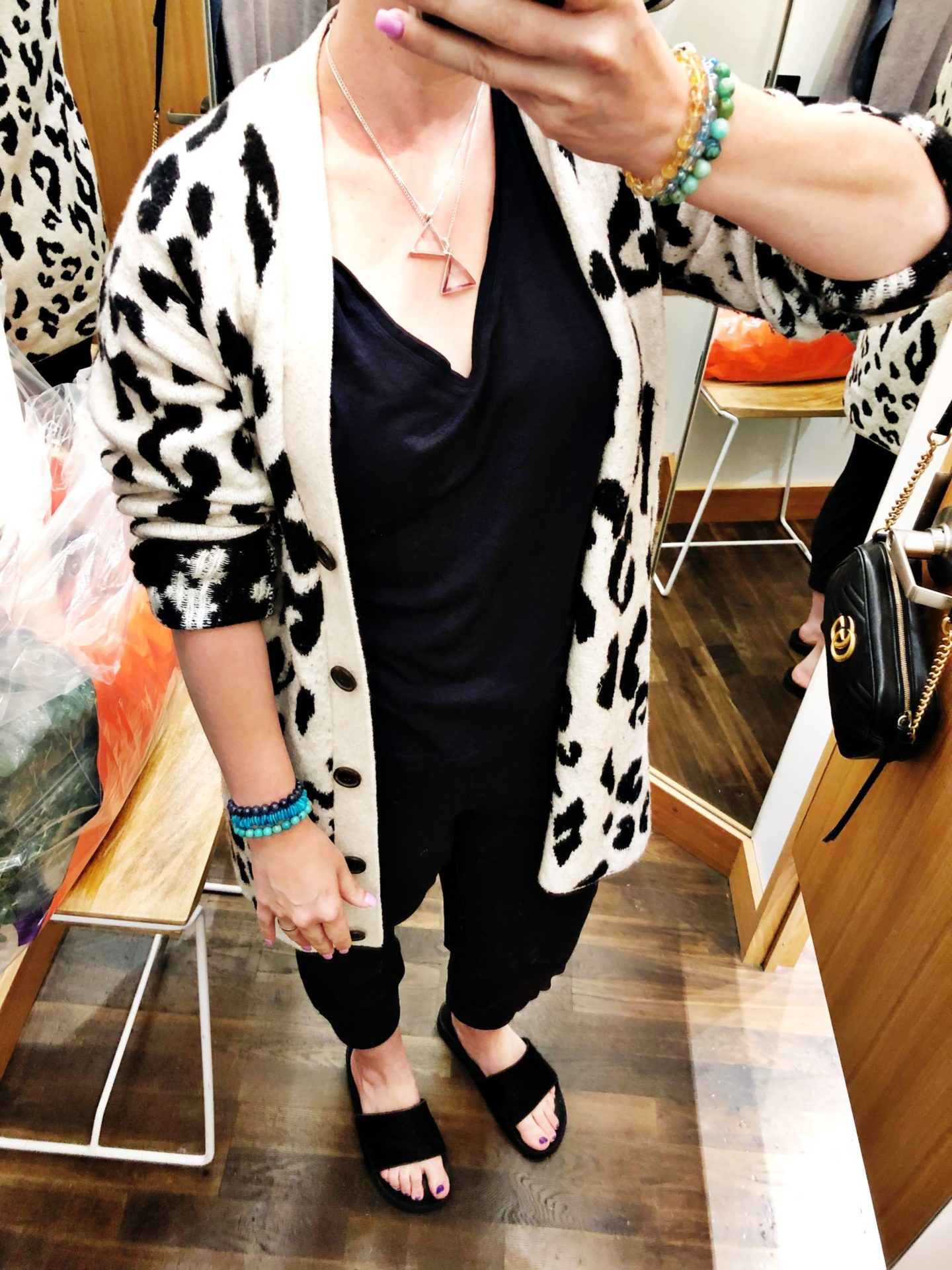 NSALE Cupcakes and Cashmere Leopard Sweater