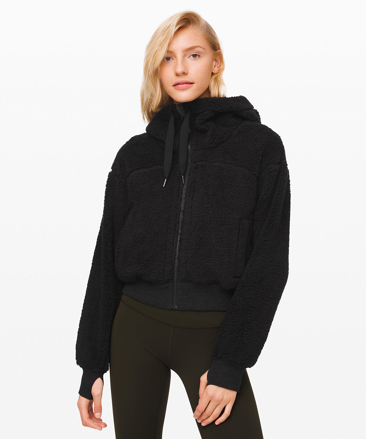 Short Sweet and Sherpa Jacket Black, Lululemon Upload
