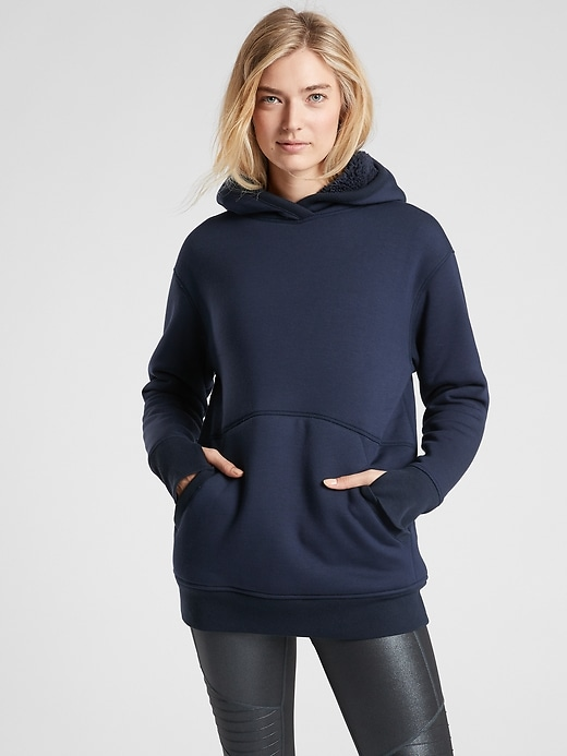 Athleta Reversible Sherpa Sweatshirt